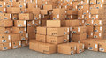 Stacks Of Cardboard Boxes Royalty Free Stock Image - 66982696