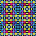 Psychedelic Circles On A Black Background. Grunge Effect. Vector Illustration. Royalty Free Stock Photo - 66984265