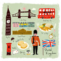 Hand Drawn United Kingdom Travel Collection Stock Images - 66984464