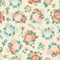 Seamless Pattern With A Bouquet Of Roses Royalty Free Stock Image - 66988826