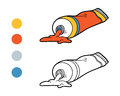 Coloring Book For Children (tubes Of Paint) Stock Photography - 66998442
