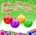 Merry Christmas & Happy New Year 2009 Background Royalty Free Stock Image - 6708006