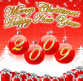 Merry Christmas & Happy New Year 2009 Background Stock Photo - 6708570