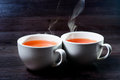 Cup Of Hot Drink With Steam. Stock Image - 67013491