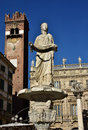 Madonna Verona Fountain In Piazza Delle Erbe (Verona Market S Sq Royalty Free Stock Images - 67015299
