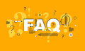Thin Line Flat Design Banner For FAQ Web Page Royalty Free Stock Photos - 67016888