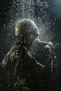 US Army Soldier In The Rain Royalty Free Stock Photography - 67017307