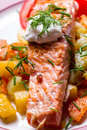 Grilled Salmon Royalty Free Stock Photo - 67025665
