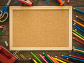 Cork Board And Stationery Stock Images - 67035234