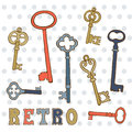 Hand Drawn Vintage Keys Collection. Royalty Free Stock Photos - 67037188