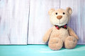 Teddy Bear Background Empty Space For Text.Birthday Toy. Royalty Free Stock Photography - 67058877