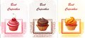 Card With Capcakes Stock Photography - 67076992