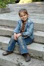 Girl On The Staircase Royalty Free Stock Image - 6711596