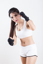 Boxing Woman Royalty Free Stock Image - 67133206