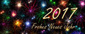 New Year Card 2017 Frohes Neues Jahr (Happy New Year) Stock Images - 67138394
