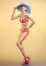 Sexy PinUp Woman In Polka Dots Swimsuit,beach Body Stock Photography - 67139202