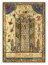 Old Tarot Cards. Full Deck. The Tower Royalty Free Stock Images - 67139349
