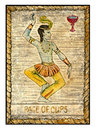 Old Tarot Cards. Full Deck. Page Of Cups Stock Photography - 67139752