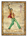 Old Tarot Cards. Full Deck. Page Of Wands Stock Images - 67139864