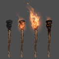 Torch With Flame Royalty Free Stock Photography - 67159667