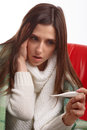 Young Sick Woman Royalty Free Stock Images - 67168639