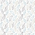 Boho Style Feathers Seamless Vector Pattern Stock Image - 67168691