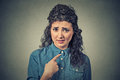Angry Annoyed Woman, Getting Mad Asking Question You Talking To Me, Mean Me Royalty Free Stock Images - 67169769