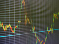 Stock Market Chart, Graph On Black Background. Stock Photography - 67184832