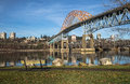 Pattullo Bridge And Railroad Track, New Westminster Stock Images - 67185114