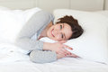 Girl On Pillow Stock Image - 67195841