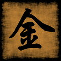Metal Chinese Calligraphy Five Elements Stock Photo - 6722740