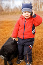 Funny Little Traveler With A Bag And A Cell-phone Stock Photography - 6727602