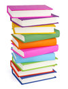 Pile Of Books Isolated On White Stock Image - 67207211