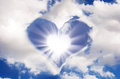 Sun And Clouds In The Shape Of Heart Royalty Free Stock Image - 67218766