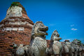 City Building Remain Of Temple In Ayutthaya, Historical Park In Stock Photo - 67245460