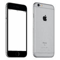 Space Gray Apple IPhone 6S Mockup Slightly Rotated Front View Royalty Free Stock Images - 67262929