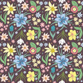 Seamless Pattern With Spring Flowers. Stock Photography - 67264432
