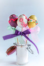 Easter Eggs Cake Pops Royalty Free Stock Photo - 67273515