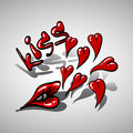 Kiss Hearts, Love Kiss My Royalty Free Stock Images - 67278899