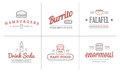 Set Of Vector Fastfood Fast Food Elements Icons And Equipment As Illustration Can Be Used As Logo Royalty Free Stock Image - 67281556