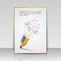 Music Brochure Template With Pencil. Vector Illustration Stock Images - 67288714