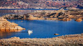 Boat On Lake Mead Royalty Free Stock Image - 67294436