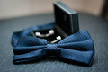Groom Bow Tie And Cufflinks Stock Photo - 67294540