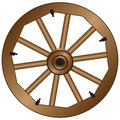 Wooden Wheel For An Old Wagon Royalty Free Stock Photo - 67302805