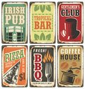 Retro Metal Signs  Set Royalty Free Stock Photography - 67318077