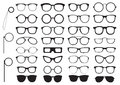Set Of Glasses Silhouettes Stock Image - 67323671