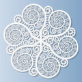 Lacy Paper Doily, Decorative Flower, Decorative Snowflake, Mandala Royalty Free Stock Image - 67328486