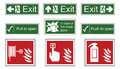 Fire And Emergency Exit Signs Stock Photography - 67353532