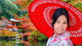 Young Japanese Woman At Daigoji Temple In Kyoto Royalty Free Stock Images - 67356609