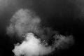 White Smoke Isolated On Black Background Stock Photography - 67356752